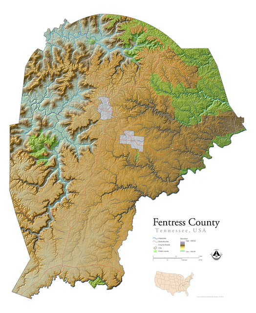 Fentress County Lidar Topography