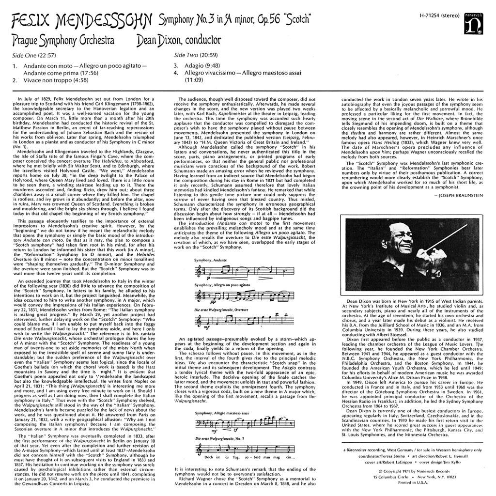 Felix Mendelssohn-Bartholdy - Symphony No. 3 (Scotch)