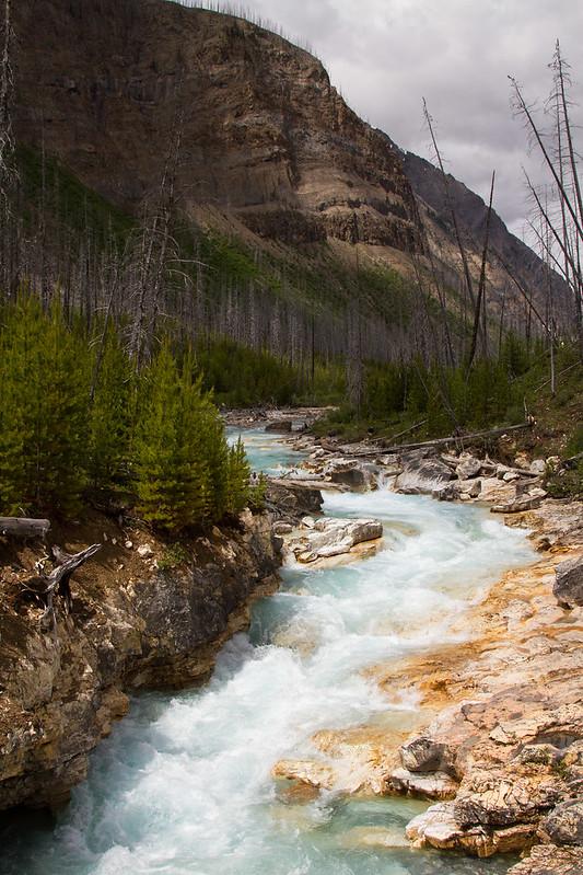 Inicio de Marble Canyon (Rocosas - Columbia Británica - Canadá)