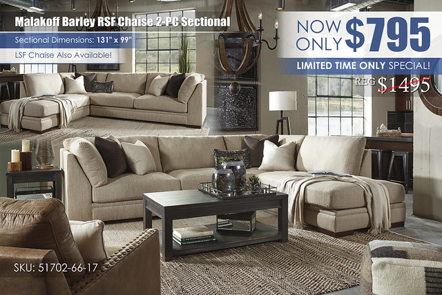 Malakoff Barley RSF Chaise Sectional_51702_Special