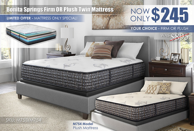 Bonita Springs Firm or Plush Twin Mattress Special_M753 OR M754_new_ALT