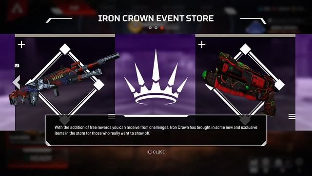 Iron Crown Event Store