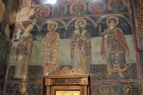 georgia gremi church castle monastery orthodox religion mural historic