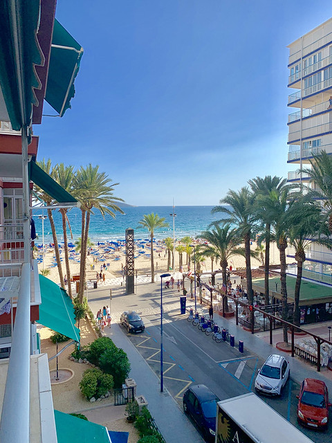 Cometan visits Benidorm, Spain, for his second family vacation of 2019