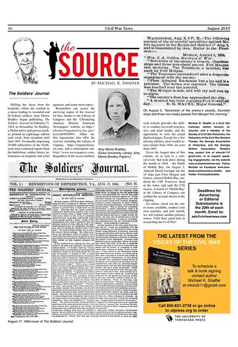 August 2019 'The Source.' #civilwar