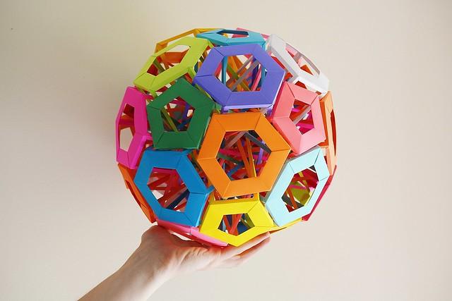 6 Interlocking Pentagonal Prisms+ 10 Interlocking Irregular Hexagonal Prisms (Byriah Loper)