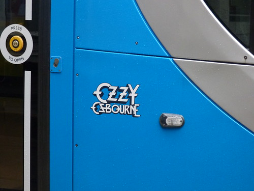 West Midlands Metro tram 37 Ozzy Osbourne in the rain at Grand Central Tram Stop | by ell brown