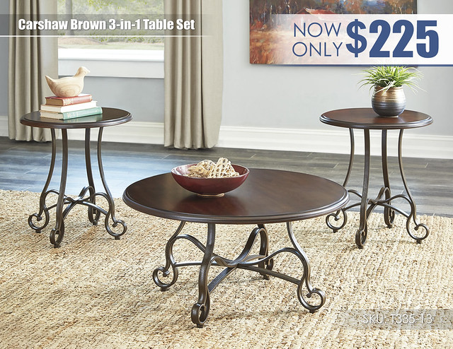 Carshaw Brown Table Set_T335-13