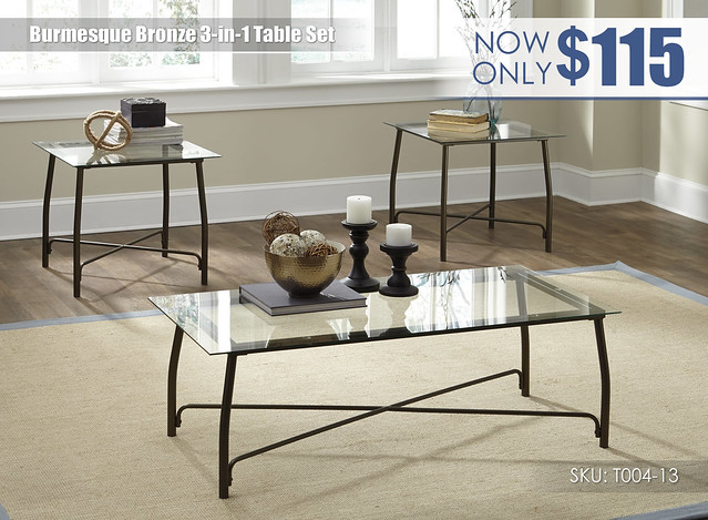 Burmesque Bronze Table Set_T004-13