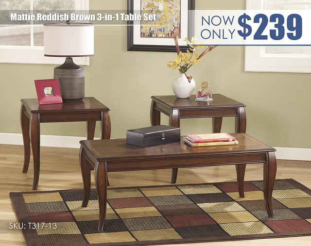 Mattie Reddish Brown Table Set_T317-13-SD
