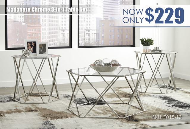 Madenere Chrome Table Set_T015-13