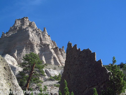 Formations along the Cave Loop in Kasha-Katuwe National Monument, New Mexico