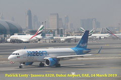 Jazeera, Airbus A320-251N, 9K-CAQ, Dubai Airport, UAE, 14 March 2019