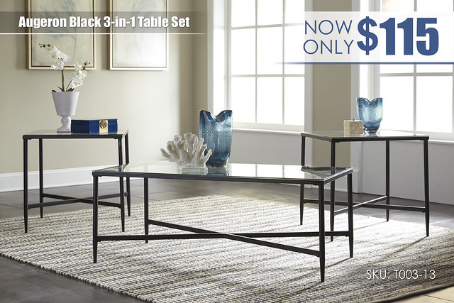 Augeron Black Table Set_T003-13