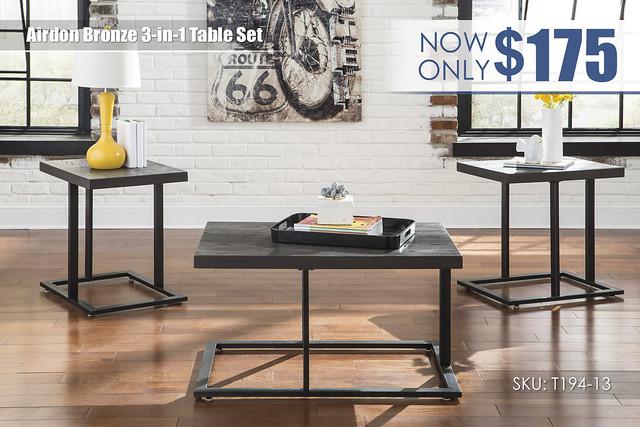 Airdon Bronze Table Set_T194-13