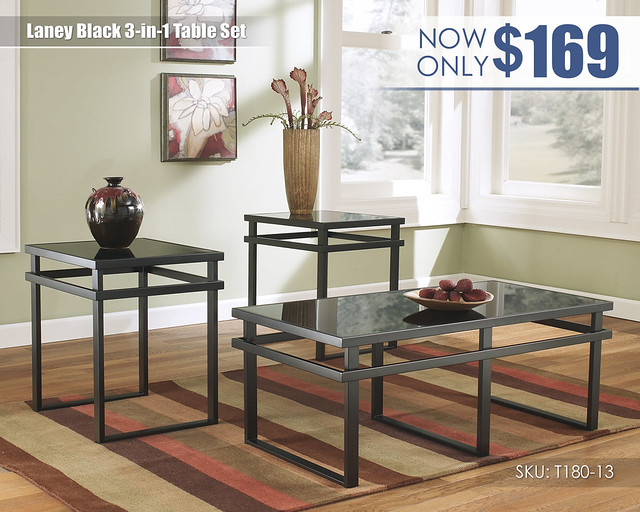 Laney Black Table Set_T180-13-SD