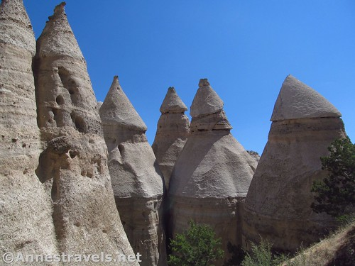 Some of the more rocket-shaped formations in Kasha-Katuwe National Monument, New Mexico