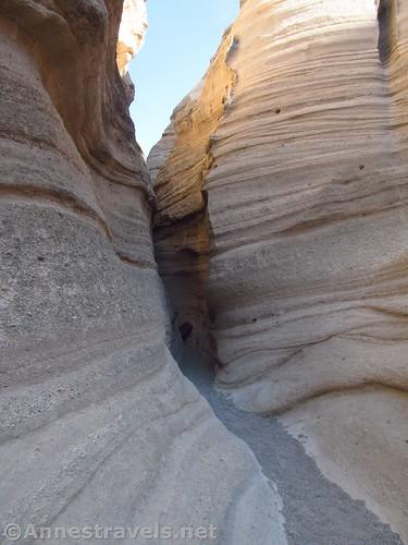 Entering the narrow slot canyon in Kasha-Katuwe National Monument, New Mexico