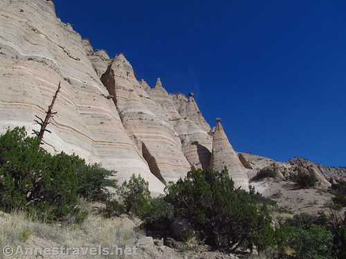 Rock formations along the Cave Loop in Kasha-Katuwe National Monument, New Mexico