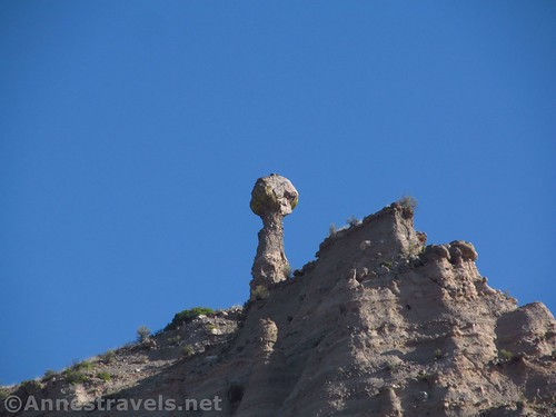 Balancing rock formation seen from the Cave Loop in Kasha-Katuwe National Monument, New Mexico