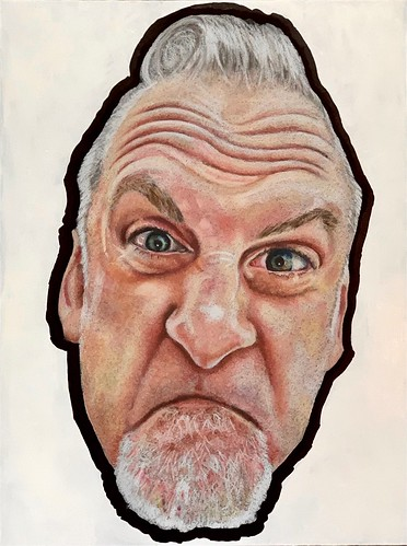 Colored pencil drawing entitled Ganz, the Threequel