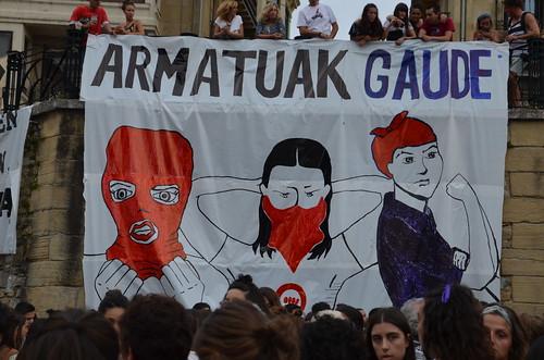 Eraso matxisten aurkako manifestazioa