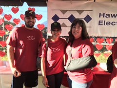 Hawaiian Electric at the American Heart Association's Oahu Heart Walk — August 10, 2019: Folks spent time catching up and mingling under our tent.