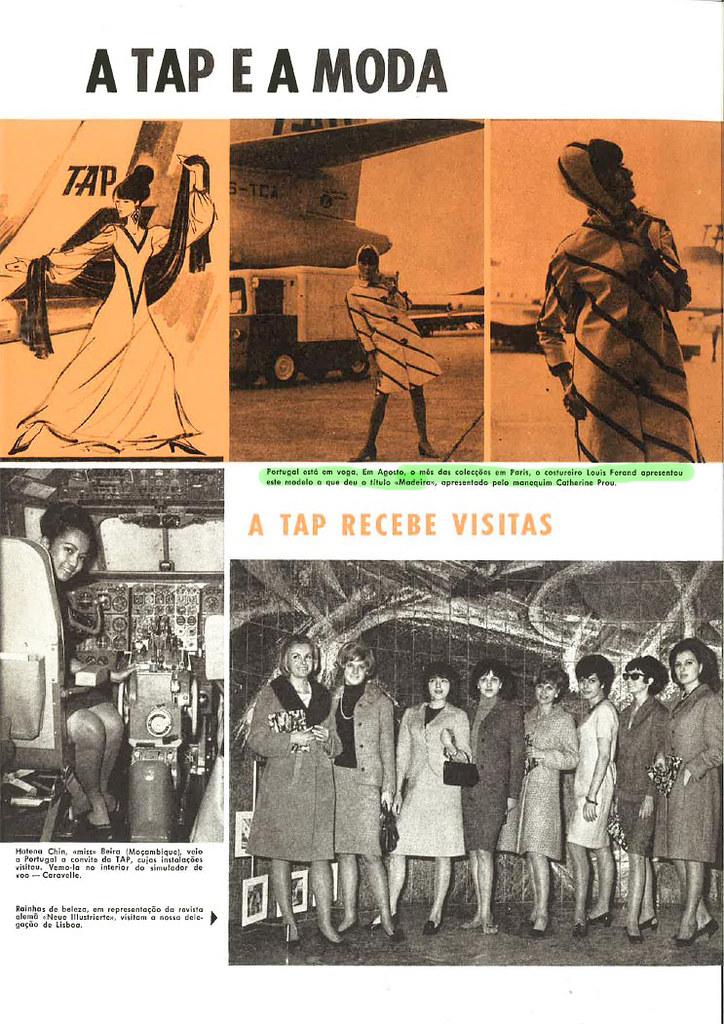 «A TAP e a moda» (Inter TAP, n.º 14-15, 2.º sem. 1965)