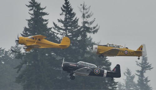 CF-BJD, 1938 Beech D17S Staggerwing, N 4802E, 1961 North American AT-6A  Harvard II (Gunslinger) CF RFS 1952 CANADIAN CAR & FOUNDRY Harvard   2019 Abbotsford International Airshow    (YXX)
