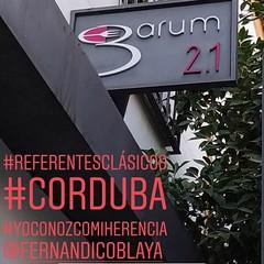 #Restaurante Garum 2.1 en #Cordoba Mis amigos ven #referentesclásicos y se acuerdan de mí 😋😋 Este gracias a @patrisuxa #latín #yoconozcomiherencia