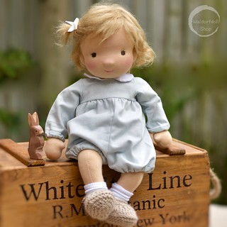 "Hasel Rose, 14"" Baby Waldorf Doll with Mohair Wig"
