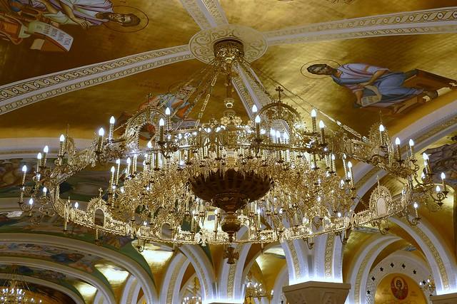 Belgrade (Serbia) St. Sava orthodox Church - the Golden Chandelier