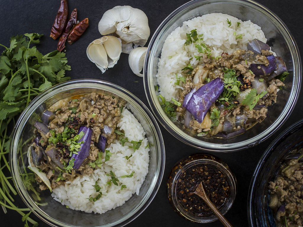 Sichuan Eggplant with Ground Turkey