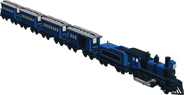 Wild Western VIP passenger train - with 2-6-0 steam loco