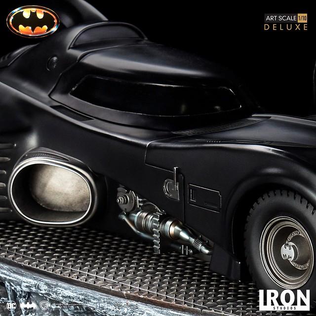 Iron Studios《蝙蝠俠(1989)》蝙蝠俠&蝙蝠車 豪華版 Batman & Batmobile Deluxe 1/10 比例全身雕像作品