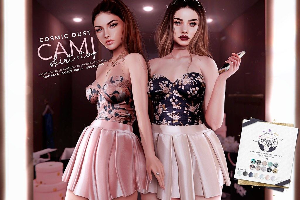 [Cosmic Dust] – Cami Top + Skirt @ Kustom9