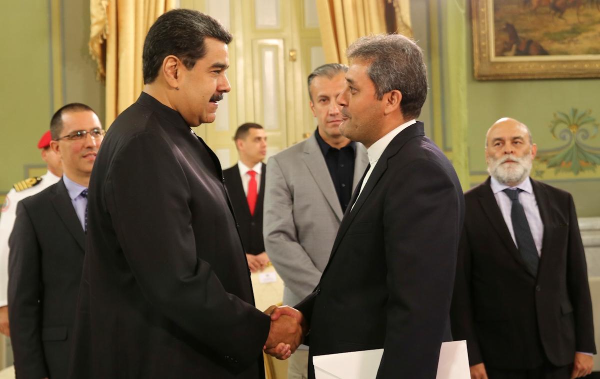 Presidente Nicolás Maduro recibe cartas credenciales del embajador de Irán