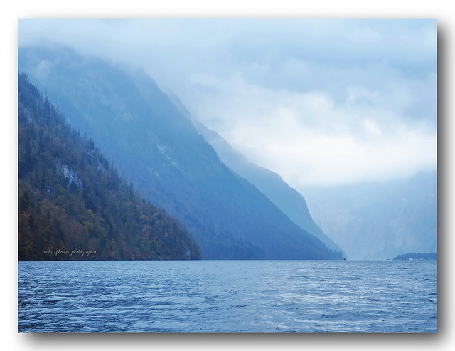 Königssee in a cloudy day.