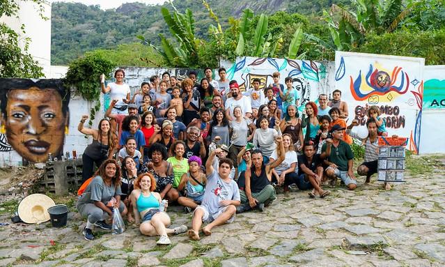 Intercâmbio-Mutirão da Rede Favela Sustentável no Quilombo do Camorim