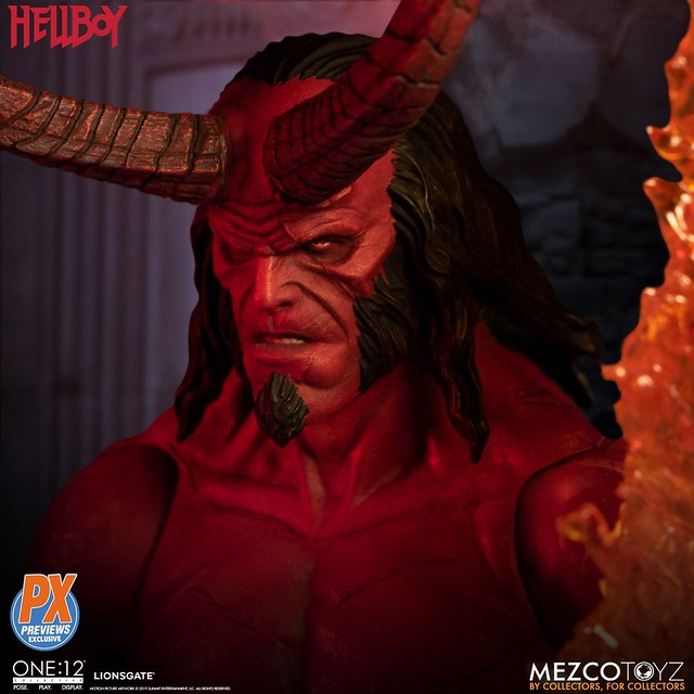 MEZCO ONE:12 COLLECTIVE 系列《地獄怪客:血后的崛起》地獄怪客 (Hellboy) 2019 Anung Un Rama Edition 1/12 比例人偶作品【PREVIEWS 限定】