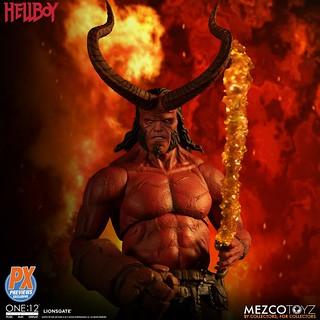 MEZCO ONE:12 COLLECTIVE 系列《地獄怪客:血后的崛起》地獄怪客 (Hellboy) 2019 Anung Un Rama Edition 1/12 比例人偶作品【PREVIEWS 限定】