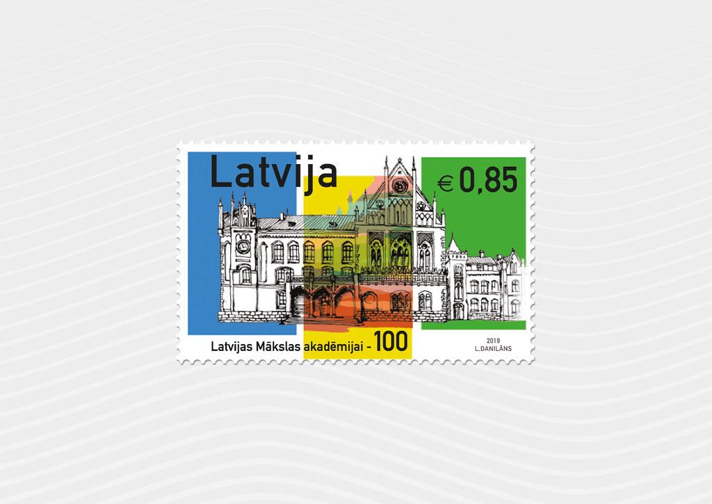 Pastmarka Mākslas akadēmijai - 100 - Latvijas Pasts - Flickr