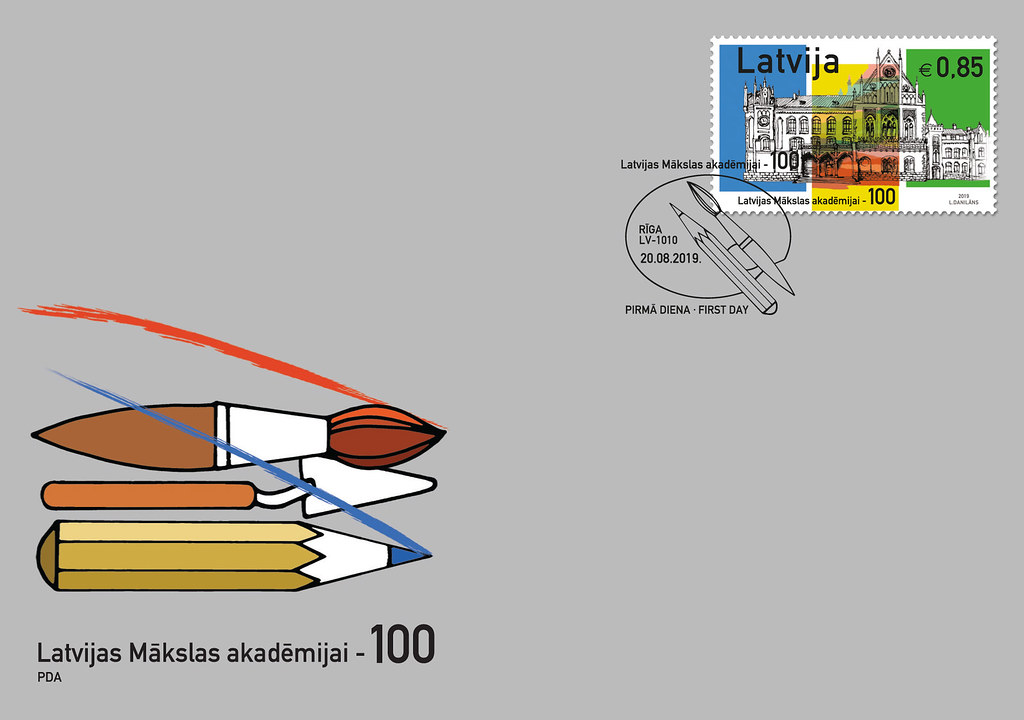 Aploksne - Latvijas Mākslas akadēmijai - 100 - Latvijas Pasts - Flickr