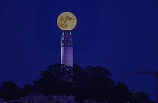 Coit Tower Full Moon