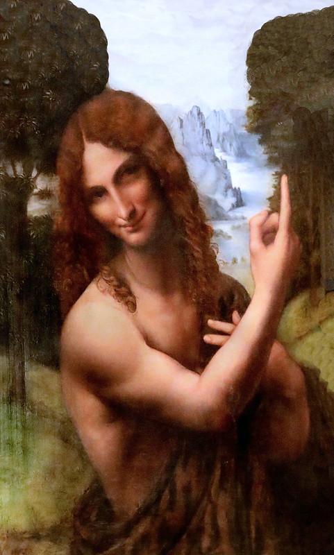 IMG_6716A Gian Giacomo Caprotti ( Salai) 1485-1524 Milan Saint Jean Baptiste  Milan Pinacoteca Ambrosiana Elève de Léonard de Vinci Pupil of Leonardo da Vinci