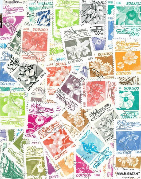 Známky Nikaragua balíček 63 ks rôznych