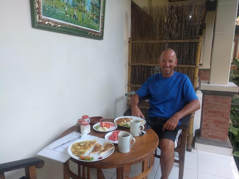 desayuno en Nataliya Homestay en Ubud
