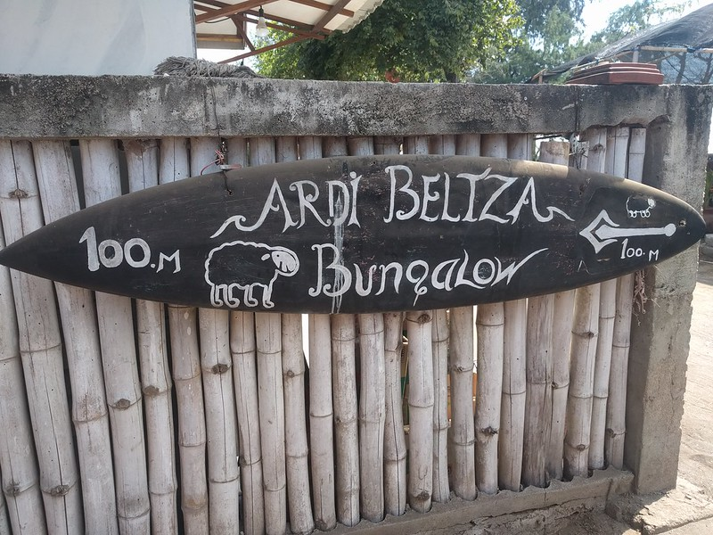 Indicación de alojamiento Ardi Beltza en la Isla Gili Air