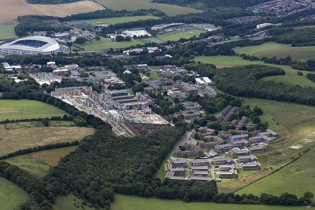 University of Sussex in Brighton aerial image