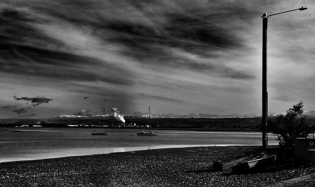 Smoke across the bay